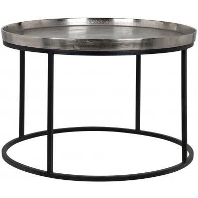 Table basse design  industriel en acier L. 70 x P. 70 x H. 45 cm collection Lyam Richmond Interiors