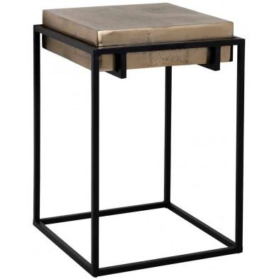 Table d'appoint noir industriel en acier L. 42 x P. 42 x H. 60 cm collection Calloway Richmond Interiors