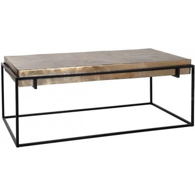 Table basse noir contemporain en acier L. 122 x P. 65 x H. 47 cm collection Calloway Richmond Interiors