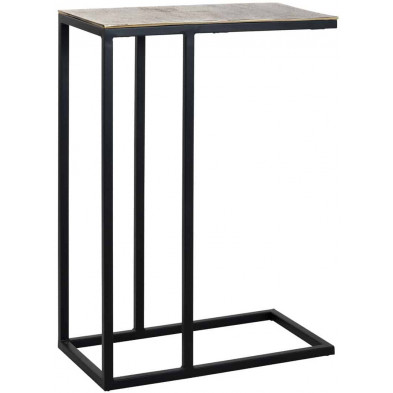 Table d'appoint noir industriel en acier  L. 54 x P. 29 x H. 75 cm collection Calloway Richmond Interiors