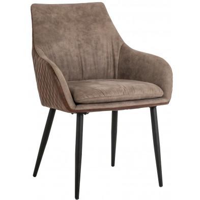Chaise de salle à manger  Marron Contemporain en Acier L. 65 x P. 66 x H. 87 cm  collection Chrissy Richmond Interiors