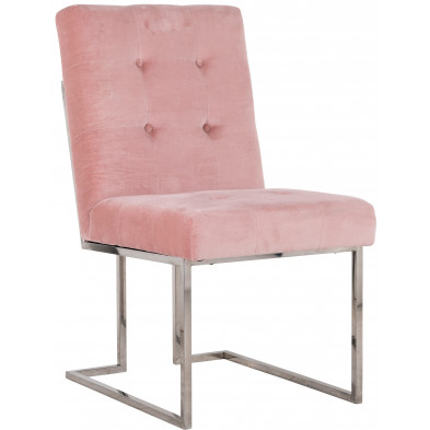 Chaise de salle à manger  Rose Design en Acier inoxydableL. 50 x P. 66 x H. 89 cm  collection Madison Richmond Interiors