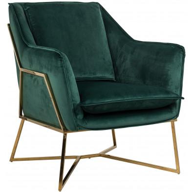 Fauteuil vert design en acier inoxydable L. 70 x P. 83.5 x H. 86.5 cm collection Aurelia Richmond Interiors