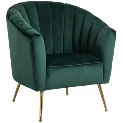 Fauteuil  vert  design en acier inoxydable fauteuil L. 82 x P. 76 x H. 86 cm collection Shelly Richmond Interiors