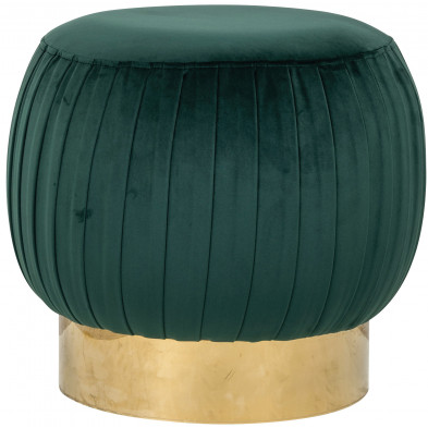 Pouf et tabouret vert design en acier inoxydable  L. 49.5 x P. 49.5 x H. 47 cm  collection Faye Richmond Interiors