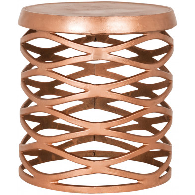 Pouf et tabouret or contemporain en aluminium L. 41 x P. 41 x H. 42 cm collection Stool Richmond Interiors
