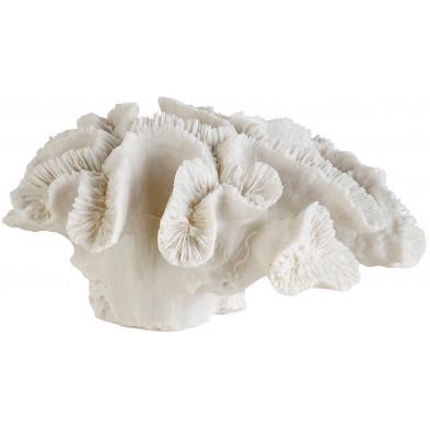 Déco figurine et statue blanc contemporain en polyrésine   L. 21.5 x P. 23 x H. 9.5 cm collection Ronnan Richmond Interiors