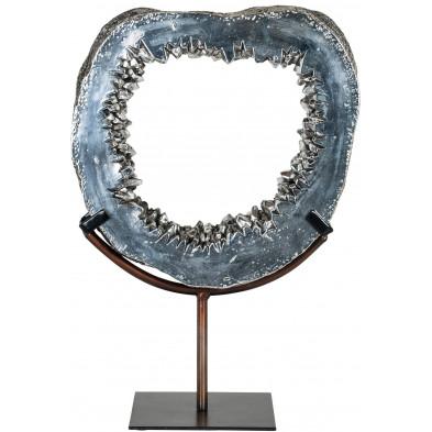 Objet déco argenté contemporain en acier L. 27.5 x P. 14.5 x H. 40 cm collection Neva Richmond Interiors