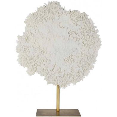 Objet déco blanc contemporain en acier L. 59 x P. 20 x H. 77 cm collection Ayla Richmond Interiors
