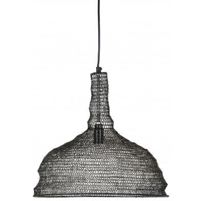 Suspension noir contemporain en acier L. 36 x P. 36 x H. 32 cm  collection Flore Richmond Interiors