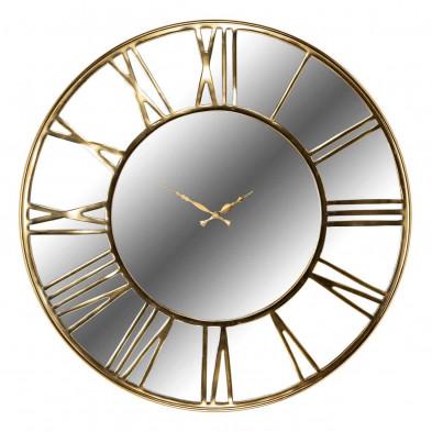 Horloge murale or contemporain en acier inoxydable L. 76 x P. 5 x H. 76 cm  collection Greyson Richmond Interiors