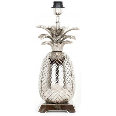 Lampe à poser argenté design en aluminium L. 16 x P. 15 x H. 38 cm collection Anne Richmond Interiors