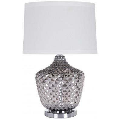 Lampe à poser argenté design en aluminium L. 38 x P. 38 x H. 60 cm collection Chase Richmond Interiors