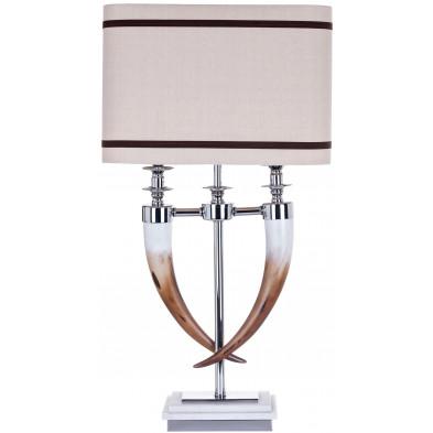 Lampe à poser argenté contemporain en aluminium L. 40 x P. 25 x H. 72 cm collection Ace Richmond Interiors
