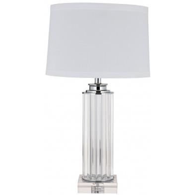 Lampe à poser blanc design en acier L. 40 x P. 40 x H. 70 cm  collection Jenoah Richmond Interiors