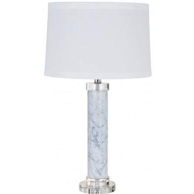 Lampe à poser blanc design en cotonL. 38 x P. 38 x H. 70 cm  collection Kane Richmond Interiors