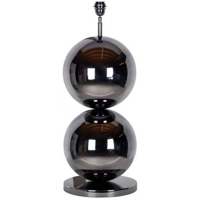 Lampe à poser argenté design en acier inoxydable  L. 32 x P. 32 x H. 77 cm collection Bobbie Richmond Interiors