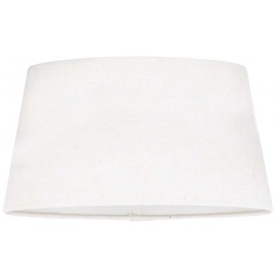 Abat-jour blanc design en coton L. 20 x P. 18 x H. 30 cm  collection Demi Richmond Interiors
