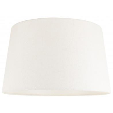 Abat-jour blanc design en coton L. 30 x P. 21 x H. 35 cm collection Demi Richmond Interiors