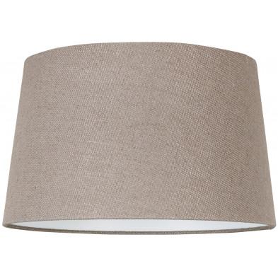 Abat-jour beige moderne en coton L. 30 x P. 21 x H. 35 cm  collection Ariana Richmond Interiors