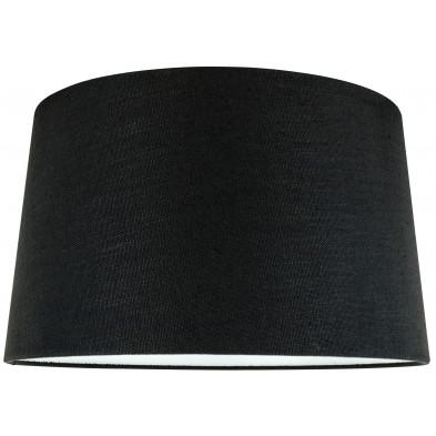 Abat-jour noir moderne en coton L. 40 x P. 27 x H. 45 cm  collection Solange Richmond Interiors
