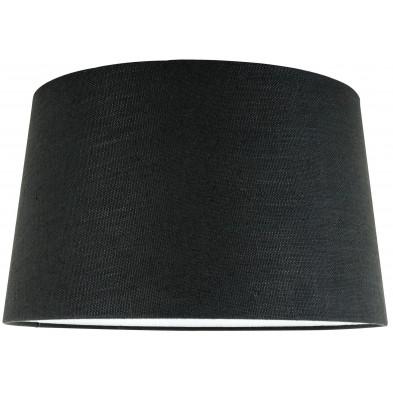 Abat-jour noir moderne en coton L. 35 x P. 24 x H. 40 cm  collection Solange Richmond Interiors