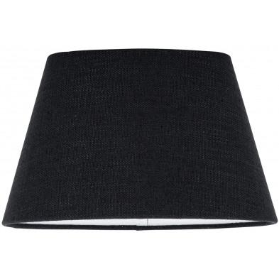 Abat-jour noir moderne en coton  L. 20 x P. 18 x H. 30 cm collection Solange Richmond Interiors