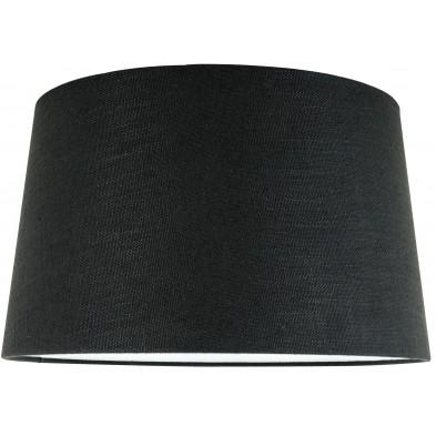 Abat-jour noir moderne en coton  L. 30 x P. 21 x H. 35 cm  collection Solange Richmond Interiors