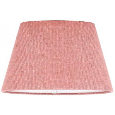 Abat-jour rose moderne en coton  L. 20 x P. 18 x H. 30 cm collection Solange Richmond Interiors