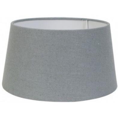 Abat-jour gris moderne en coton L. 40 x P. 27 x H. 45 cm  collection Amy Richmond Interiors