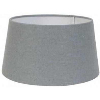Abat-jour gris moderne en coton L. 35 x P. 24 x H. 40 cm collection Amy Richmond Interiors