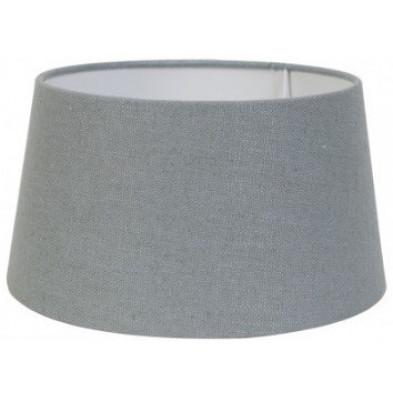 Abat-jour gris moderne en coton  L. 30 x P. 21 x H. 35 cm collection Amy Richmond Interiors