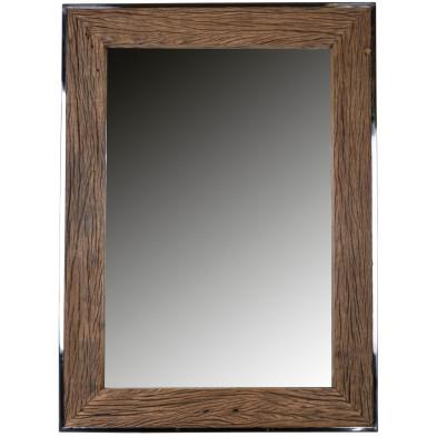 Miroir design chêne rustique en bois massif recyclé L. 85 x P. 6 x H. 115 cm collection Kensigton Richmond Interiors