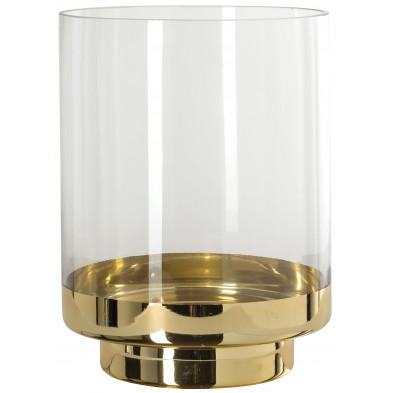 Bougeoir et chandeliers or design en verre  L. 19 x P. 19 x H. 24 cm collection Olivier Richmond Interiors