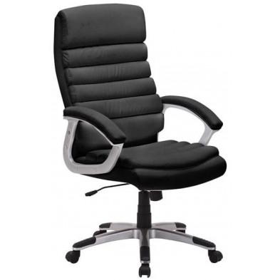 Chaise et fauteuil de bureau noir design en polyester H.115x L.65 x P.72 cm collection Permibible