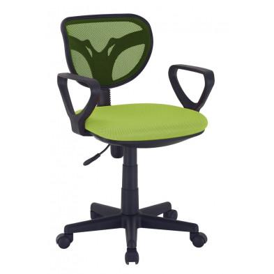 Chaise et fauteuil de bureau vert design L. 56.5 x H. 75 cm  collection Ingsque