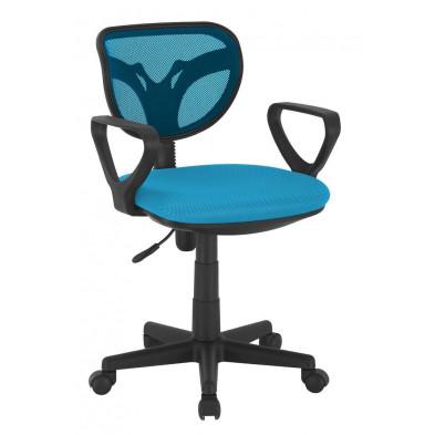 Chaise et fauteuil de bureau bleu designH.75 x L.58 x P.56.5 cm  collection Ingsque