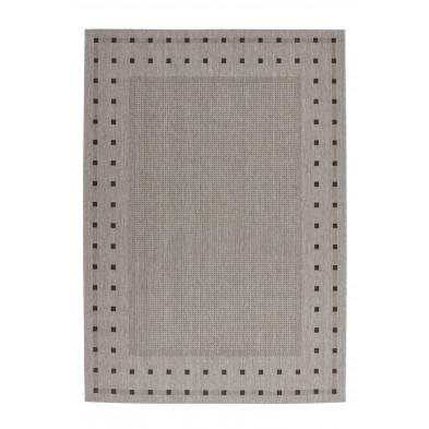 Tapis & design gris moderne tissé à la machine en polypropylène bcf  L. 230 x P. 160 x H. 0,5 cm collection Allyriane