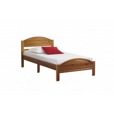 Lit 90x190 cm adulte contemporain marron collection Inherit