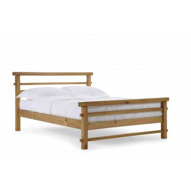 Lit 120 x 190 cm  bois massif marron contemporain en bois massif collection Jacquenett