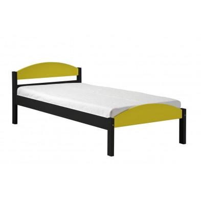 Lit 90x200 cm adulte contemporain jaune collection Blakemere