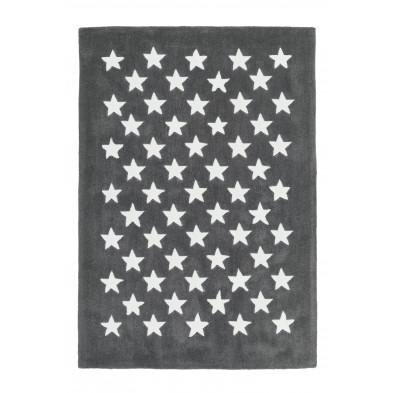 Tapis enfants gris design tissé à la main en modacryliqueL. 170 x P. 120 x H. 1,6 cm collection Cabezas