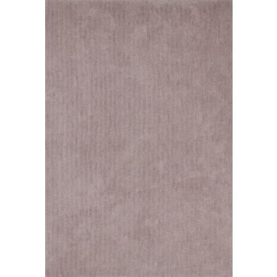 Tapis unicolore beige moderne tissé à la machine en polyester L. 170 x P. 120 x H. 3 cm collection Michaud