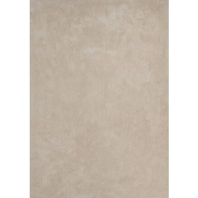 Tapis unicolore beige moderne tissé à la machine en polyester L. 150 x P. 80 x H. 3 cm collection Michaud
