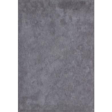 Tapis unicolore gris moderne tissé à la machine en polyester L. 230 x P. 160 x H. 3 cm collection Michaud