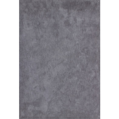 Tapis unicolore gris moderne tissé à la machine en polyester L. 290 x P. 200 x H. 3 cm collection Michaud