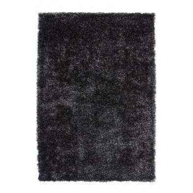 Tapis shaggy argenté moderne en polyester L. 290 x P. 200 x H. 5 cm Collection Wailuku