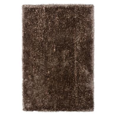 Tapis shaggy moderne coloris marron avec des motifs uni L. 150 x P. 80 x H. 5,5 cm Collection