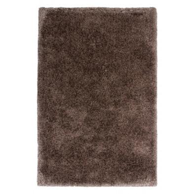 Tapis shaggy moderne coloris gris avec des motifs uni L. 230 x P. 160 x H. 5,5 cm Collection Wechsler