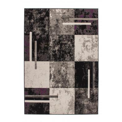 Tapis & design gris moderne tissé à la machine en polypropylène L. 280 x P. 190 x H. 1 cm collection Jaziya